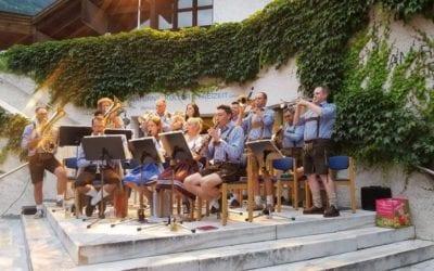 """""""Huangort"""" beim Tiroler Festl mit der Musikkapelle Naturns"""