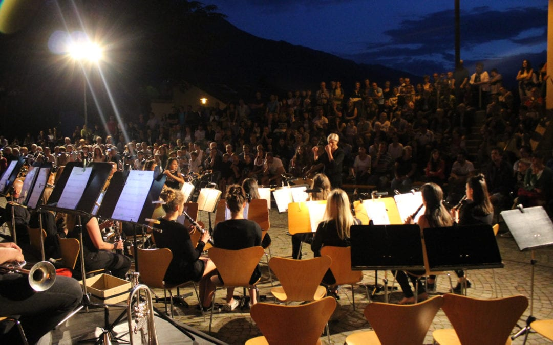 "Open Air Konzert der Jugendkapelle Naturns und der ""jungen Schnolser U25"""