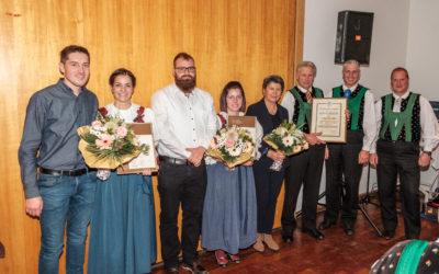 Geehrte und neues Ehrenmitglied bei der Musikkapelle Naturns
